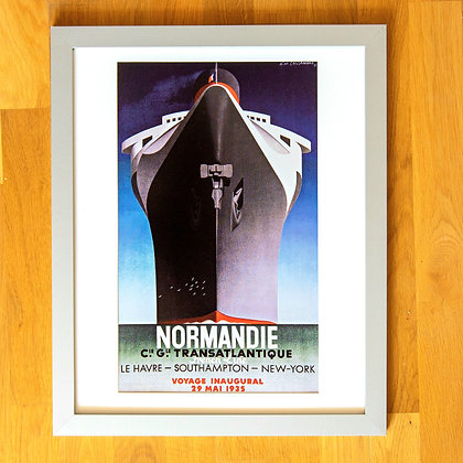 Normandie Ship Cassandre Framed Print