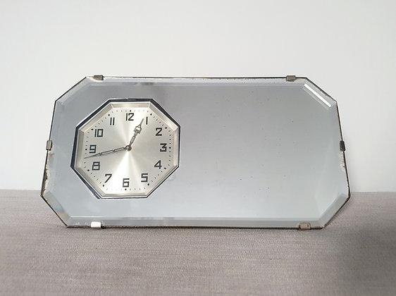 Freestanding Mirror with Clock