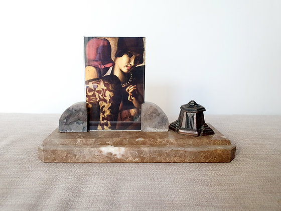 Marble Photo Frame and Inkwell