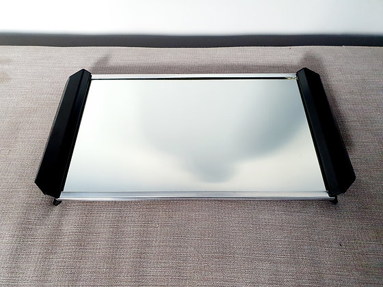 Mirrored Chrome & Metal Tray