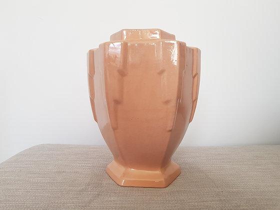 Pink Ceramic Hexagonal Vase