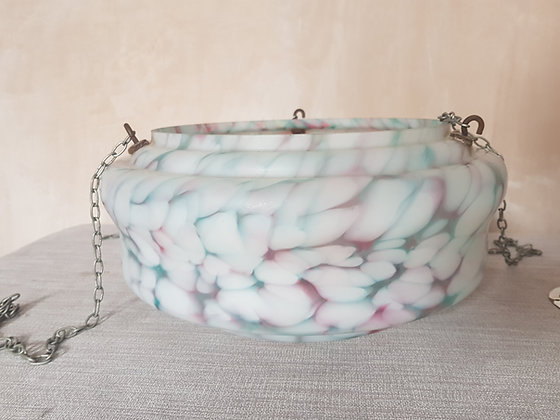 Blue / Pink / White Glass Ceiling Light Shade