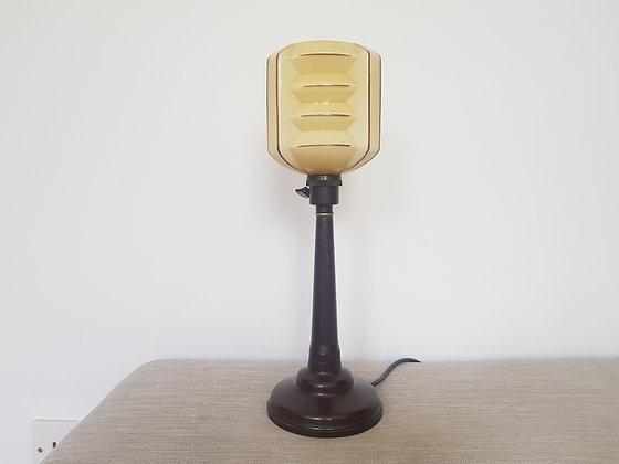 Bakelite Lamp with Concertina Shade