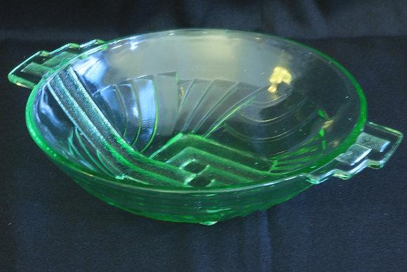 Stolzle Green Glass Bowl
