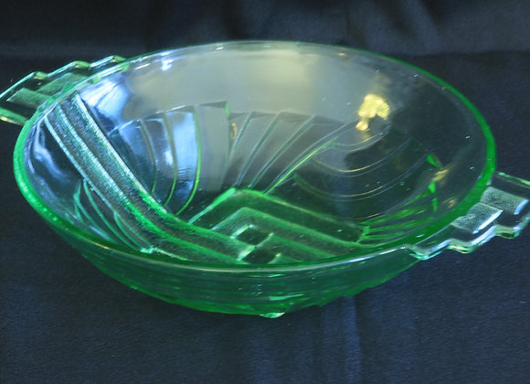 Stolzle Green Glass Bowl