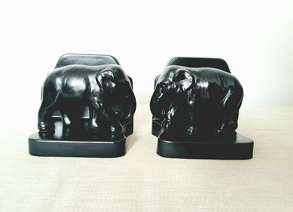 Ceramic Elephant Bookends
