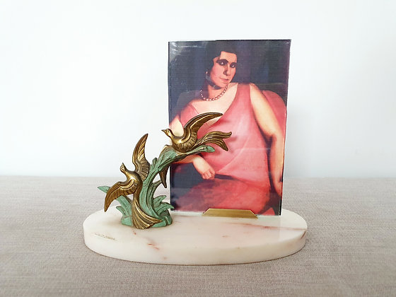 Signed Mimaux Marble Photo Frame