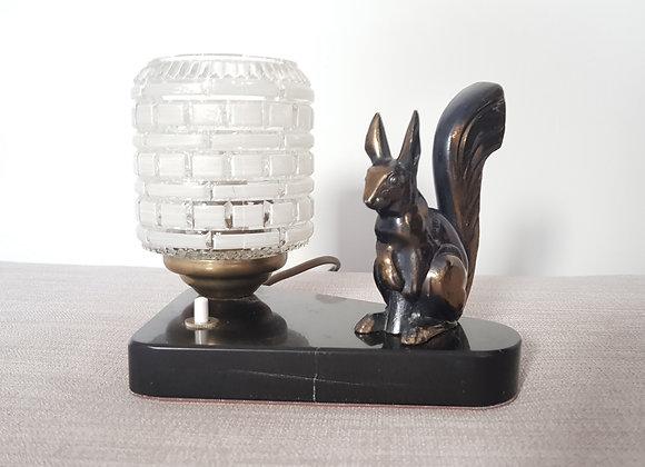Lucien Alliot (French, 1877-1956) Art Nouveau figural lamp