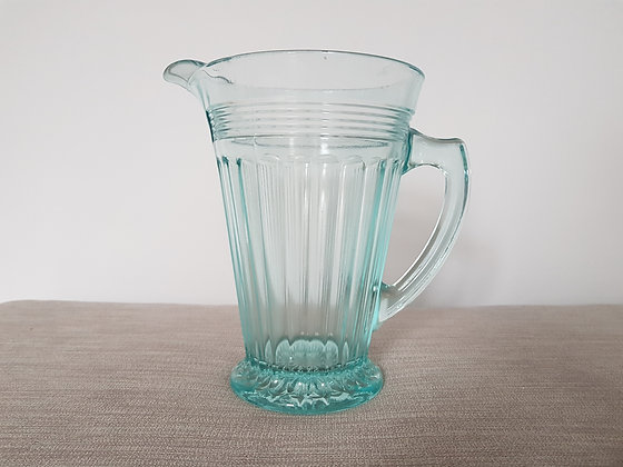 Blue Glass Lemonade Jug