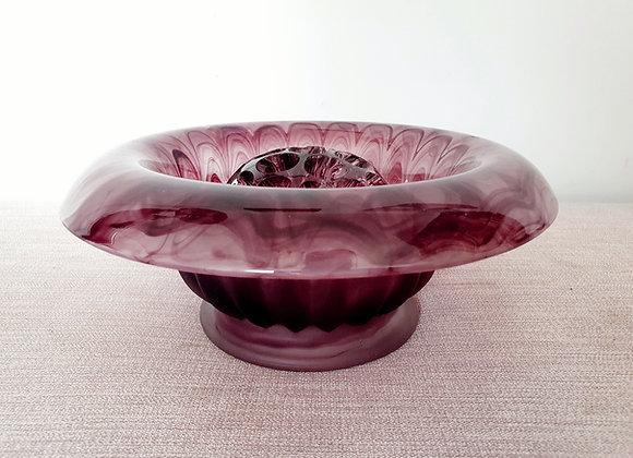 Art Deco Davidson Amethyst Cloud Glass Bowl