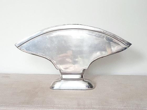 Large Chrome Fan Vase