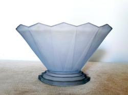 Art Deco Bagley Wyndham Blue Glass Vase