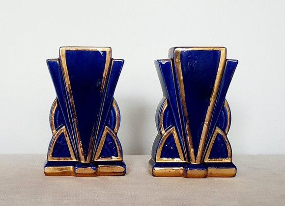 Pair of Cobalt Blue Vases