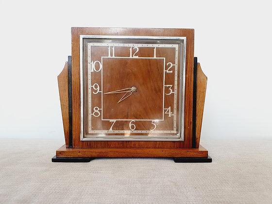 Art Deco Mantel Clock Wooden 1930s for sale UK