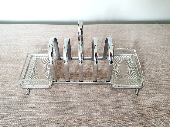 Toast Rack with Double Preserve Dish
