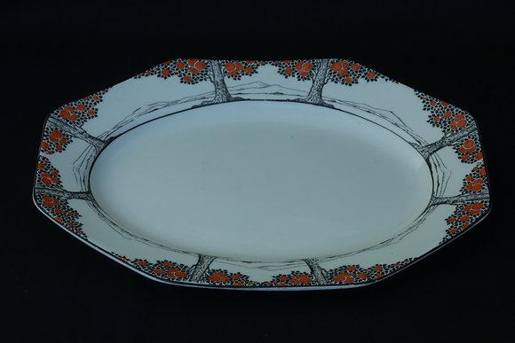 Crown Ducal Orange Tree Sandwich Plate