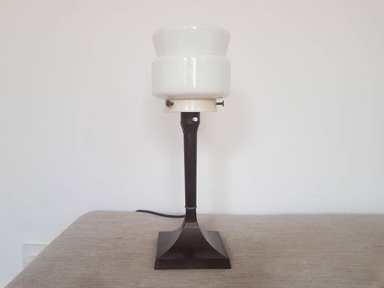 Bakelite Lamp with White Glass Shade