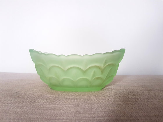 Bagley Green Glass Fishscale Bowl