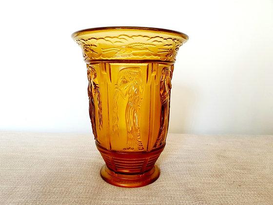 Wiener Werkstätte Pouring Maidens Vase