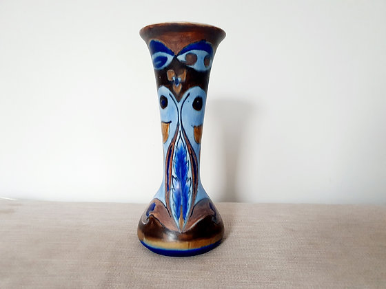 Clews Chameleon Ware Blue Vase