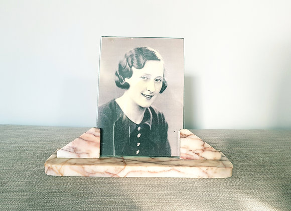 Pink Rippled Marble Photo Frame