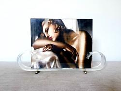 Art Deco Lucite Photo Frame