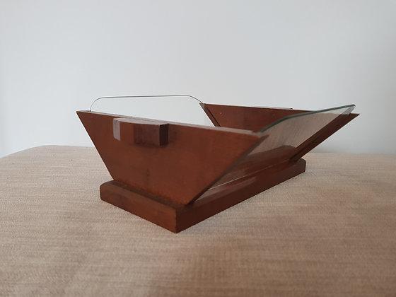 Wood & Glass Bowl