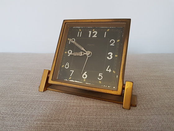 Bayard Brass Reclining Clock