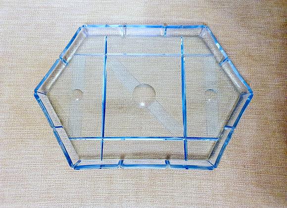 Blue Glass Geometric Tray