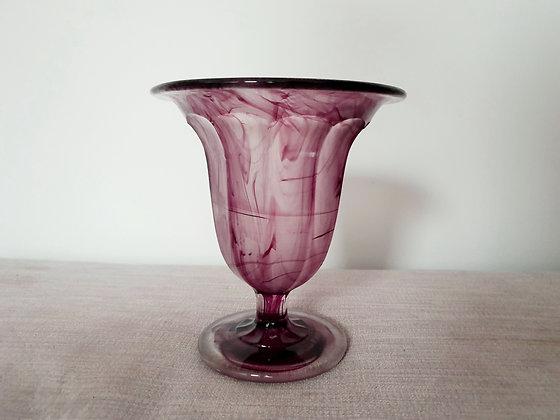 Davidson Amethyst Cloud Glass Vase