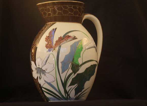 Boch Freres Butterfly Vase