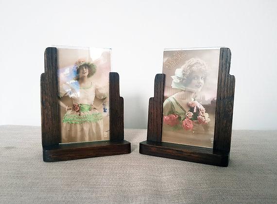 Pair of Asymmetric Wooden Frames
