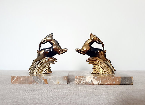 Leaping Gazelle Bookends