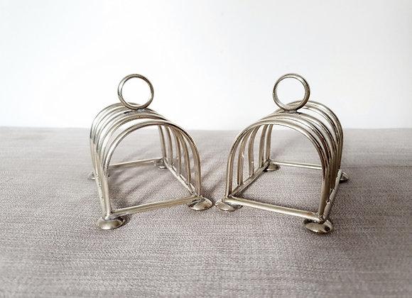 Pair of Silver Plated Toast Racks