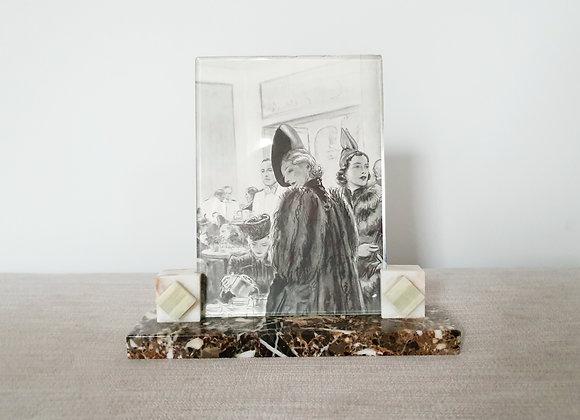 Diamond Marble Photo Frame