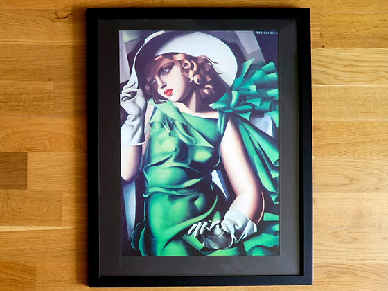 Tamara de Lempicka Framed Print Young Lady with Gloves