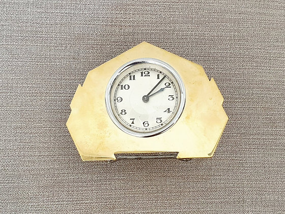 Gold Faced Desk Clock
