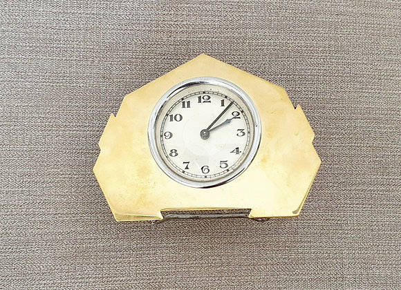 Gold Faced Desk Clock