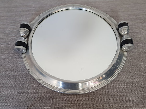 Chrome & Mirror Serving Tray