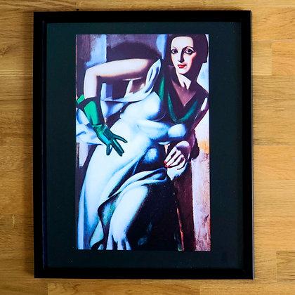 Tamara de Lempicka Framed Print Woman with a Green Glove