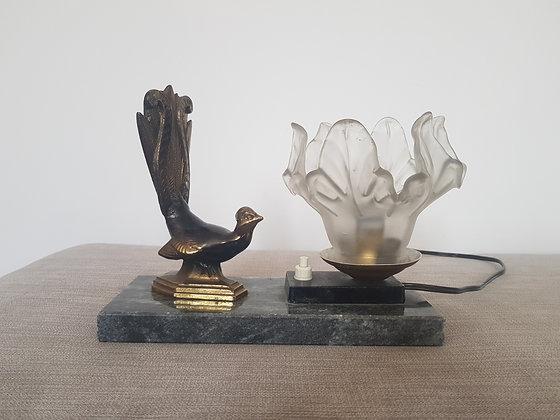 Lyre Bird Marble Lamp