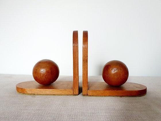 Art Deco Wooden Bookends