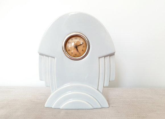 Sarreguemines Light Blue Rocket Clock