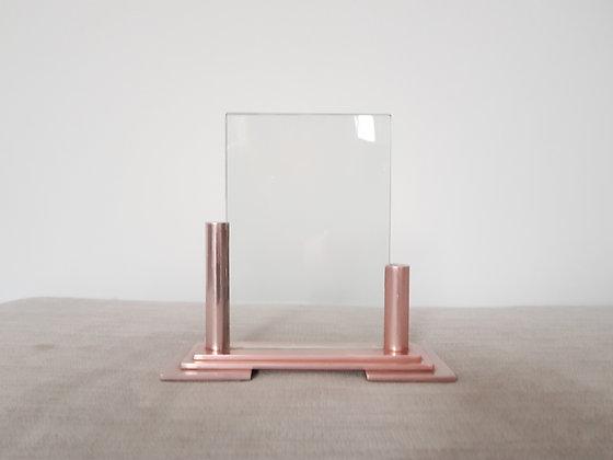 Pink Asymmetric Metal Photo Frame