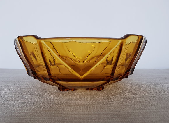 Sowerby Amber Glass Bowl
