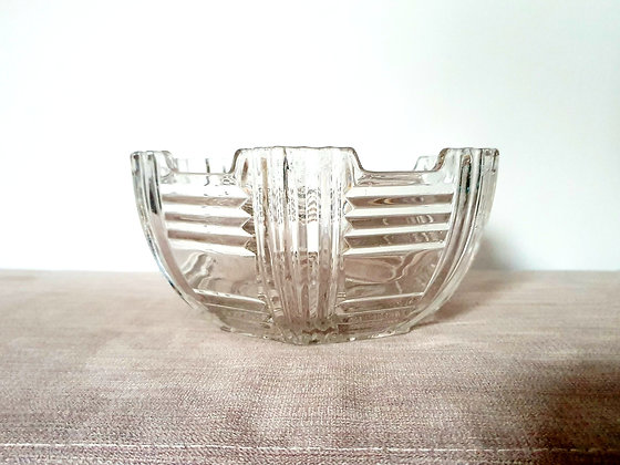 Thick Clear Glass Bowl