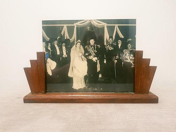 Wooden Fan Photo Frame