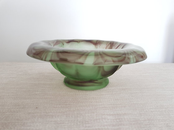 Davidson Cloud Glass Topaz & Briar Bowl