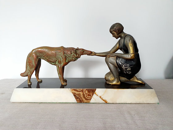Lady with Borzoi Statue