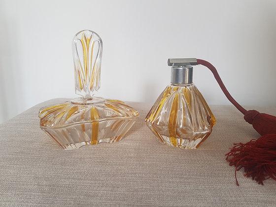 Amber Flash Perfume Bottle & Trinket Dish